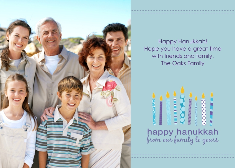 Hanukkah Photo Cards 5x7 Cards, Premium Cardstock 120lb with Rounded Corners, Card & Stationery -Light Up the Hanukkah
