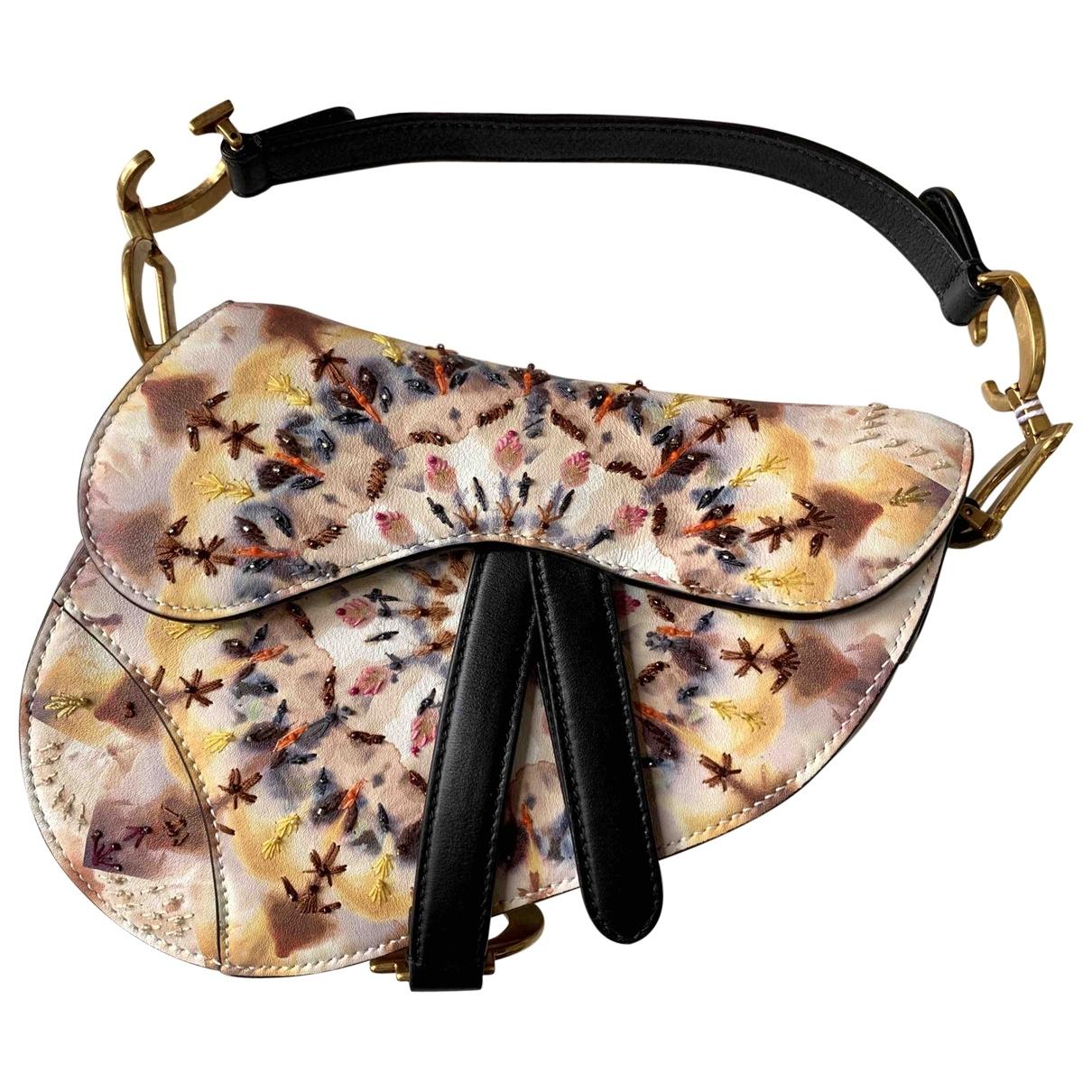 Dior Saddle Multicolour Leather handbag for Women \N