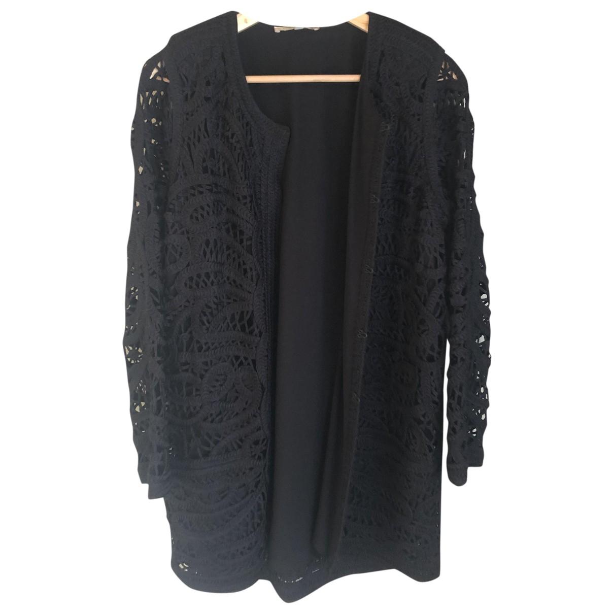 Maje N Black coat for Women 38 FR