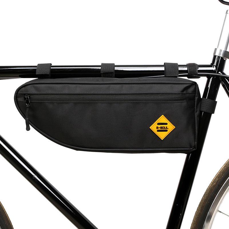 BIKIGHT Bike Frame Front Tube Bag Waterproof Large Capacity MTB Road Cycling Bicycle Pouch Storage Bag