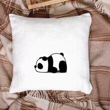 Funda de cojin con estampado de panda sin relleno