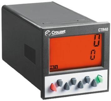 Crouzet CTR48, 6 Digit, LCD, Digital Counter, 40kHz, 260 V ac