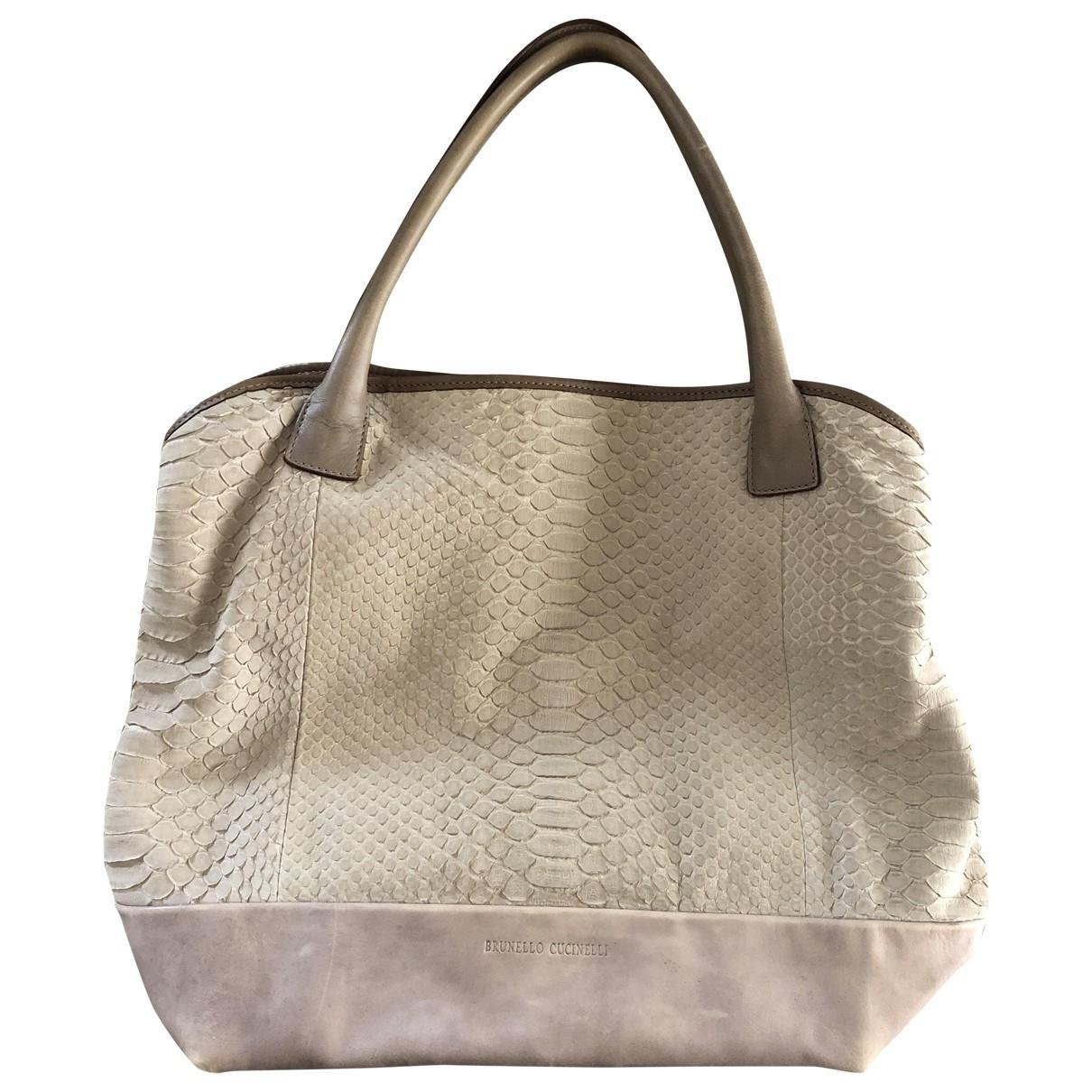 Brunello Cucinelli \N Beige Python handbag for Women \N