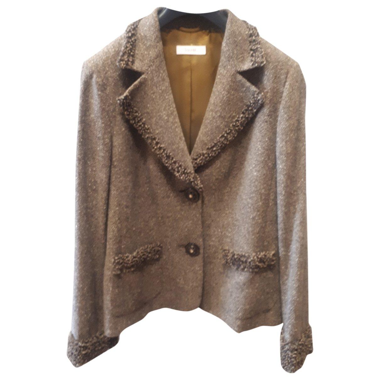 Laurel - Veste   pour femme en laine - marron