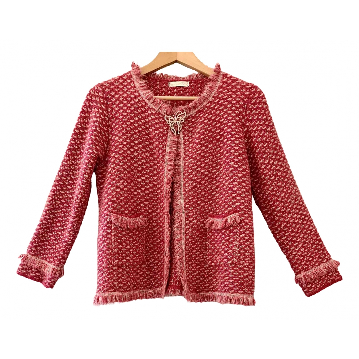 Non Signe / Unsigned \N Jacke in  Rosa Wolle