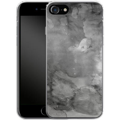Apple iPhone 7 Silikon Handyhuelle - Black Watercolor von Emanuela Carratoni