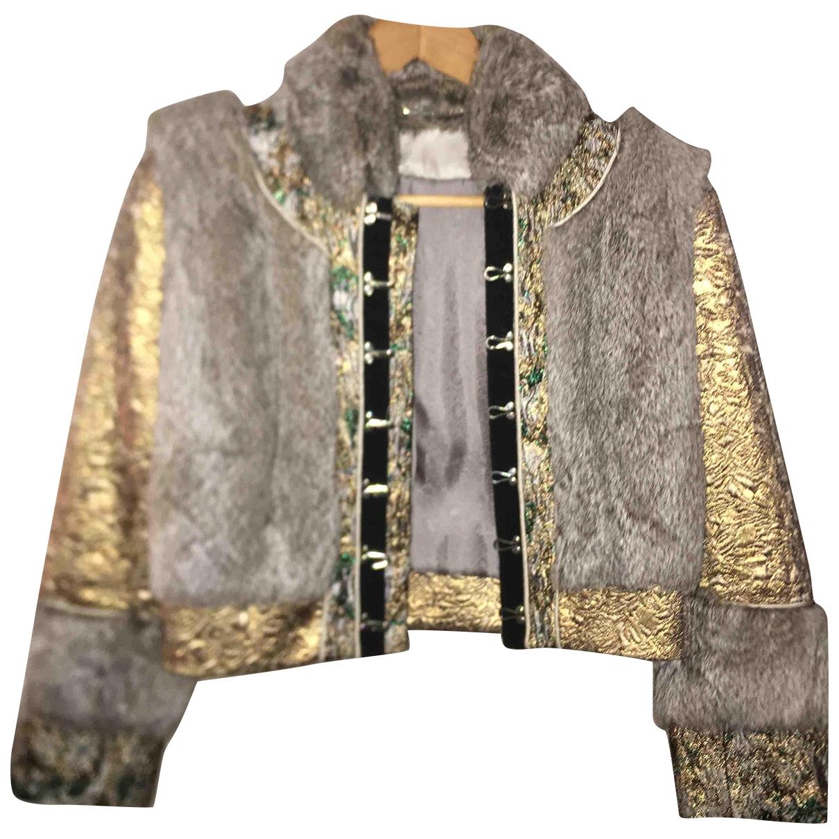 Matthew Williamson - Manteau   pour femme en racoon - gris
