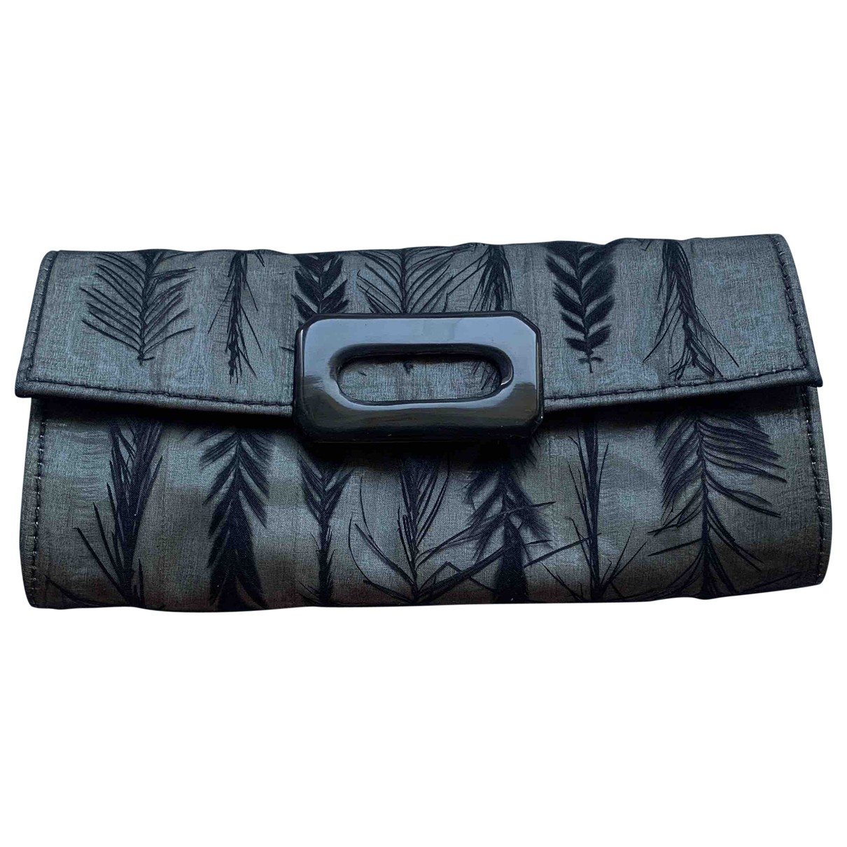 R+y Augousti \N Grey Silk Clutch bag for Women \N