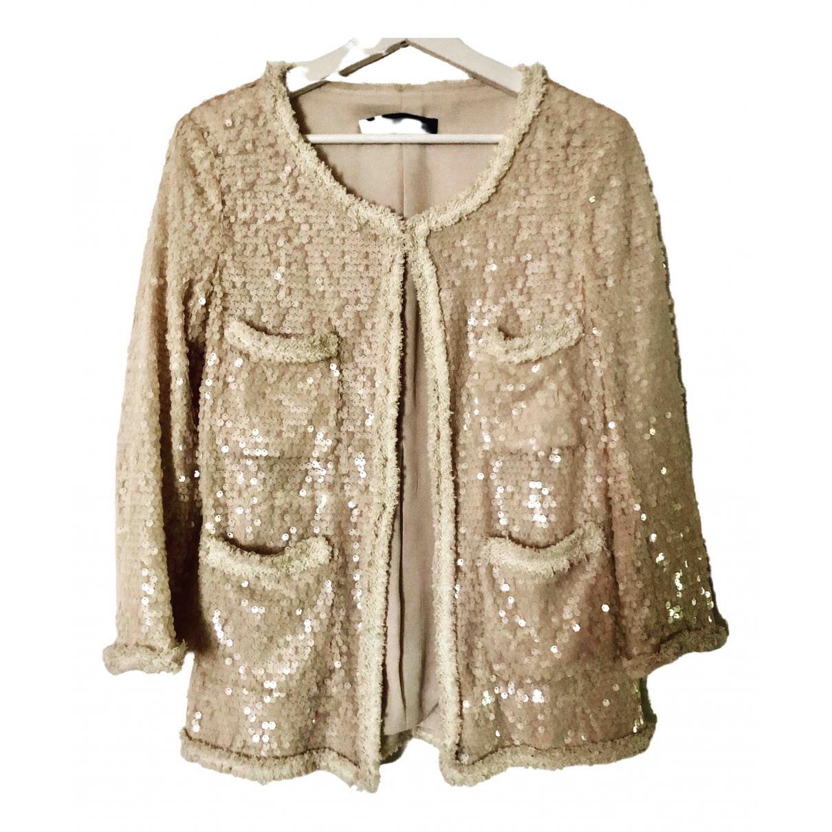 Zara - Top   pour femme en laine - beige
