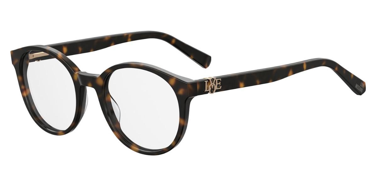 Moschino Love MOL523 086 Women's Glasses Tortoise Size 49 - Free Lenses - HSA/FSA Insurance - Blue Light Block Available