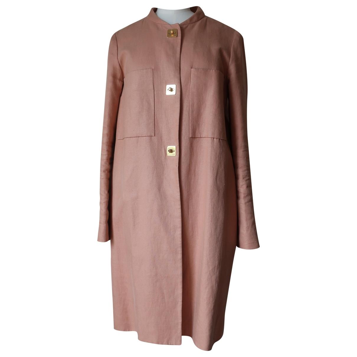 Chloé \N Beige Linen coat for Women 36 FR