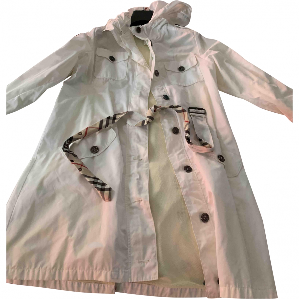Burberry \N White jacket & coat for Kids 14 years - S FR
