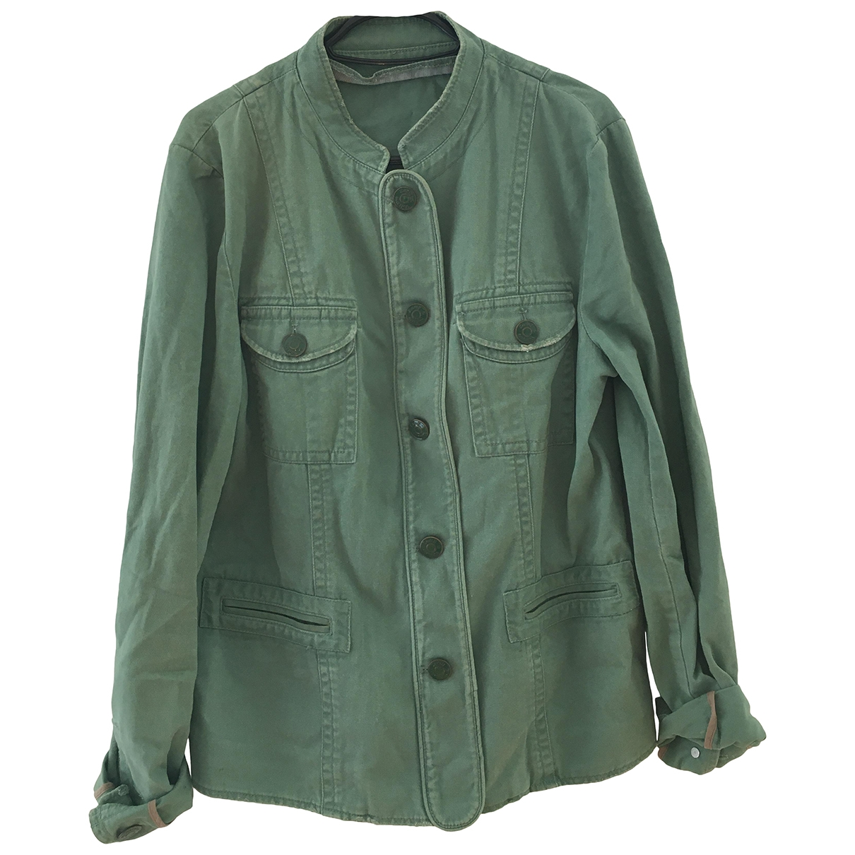 Zadig & Voltaire \N Green Cotton jacket for Women 38 FR