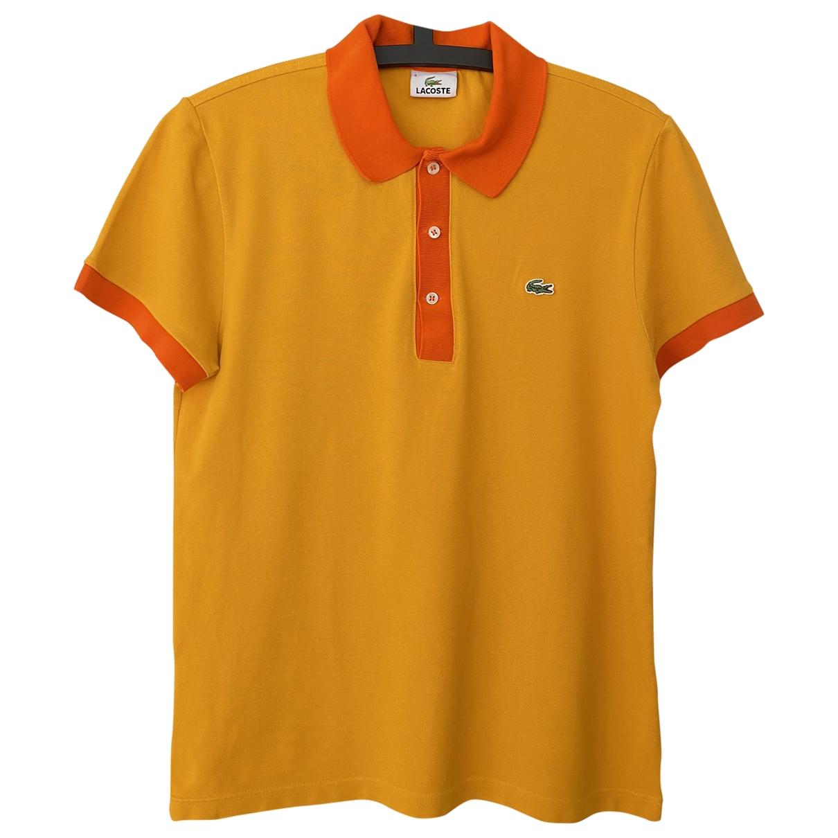 Polo en Algodon Amarillo Lacoste