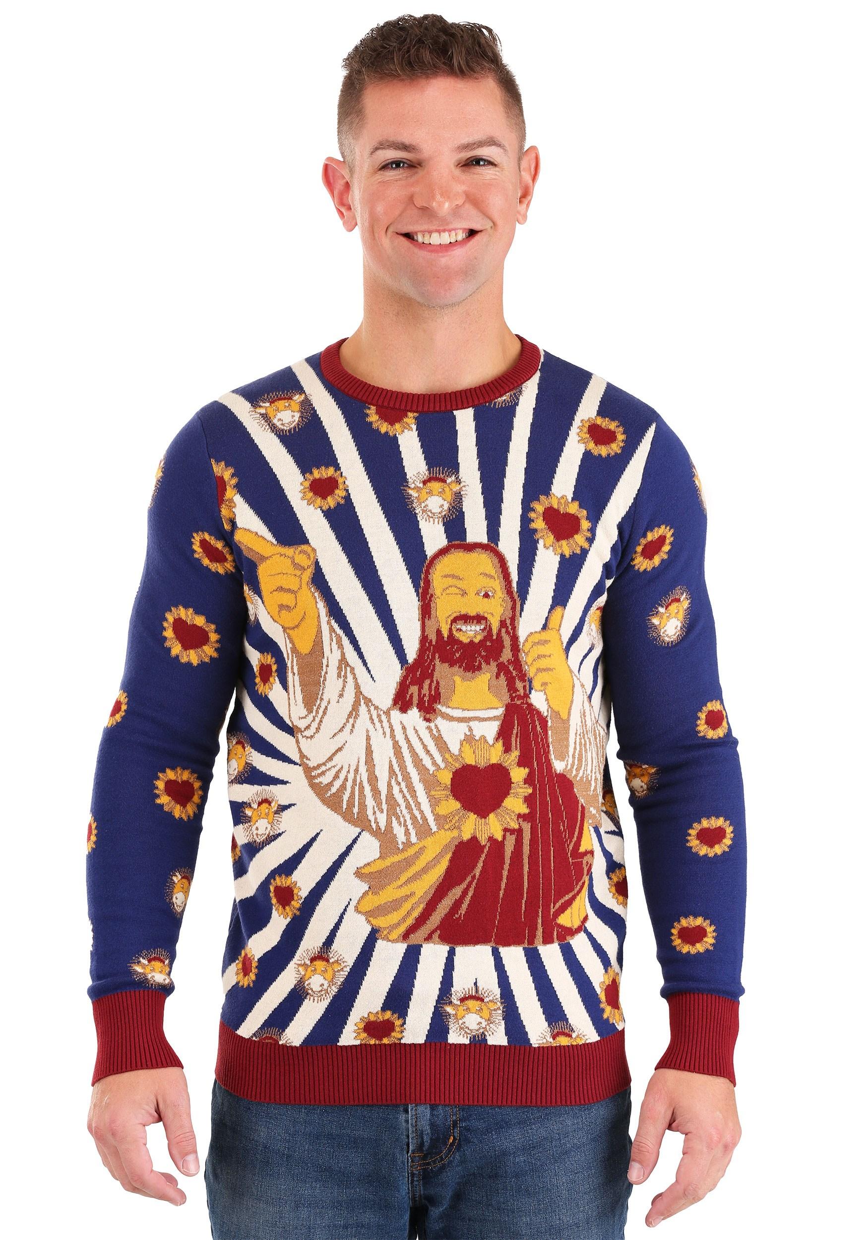 Jay and Silent Bob Buddy Christ Ugly Christmas Sweater