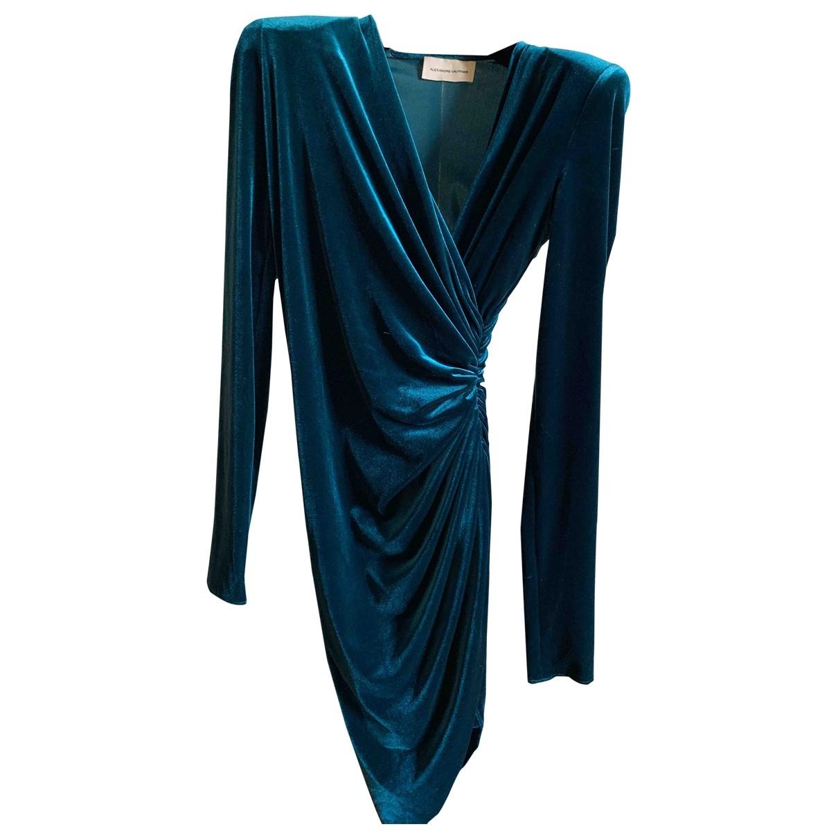 Alexandre Vauthier - Robe   pour femme en velours - bleu