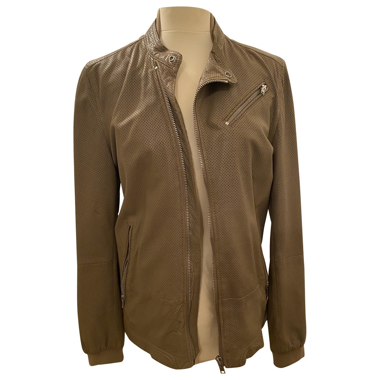 Diesel \N Beige Leather jacket  for Men S International