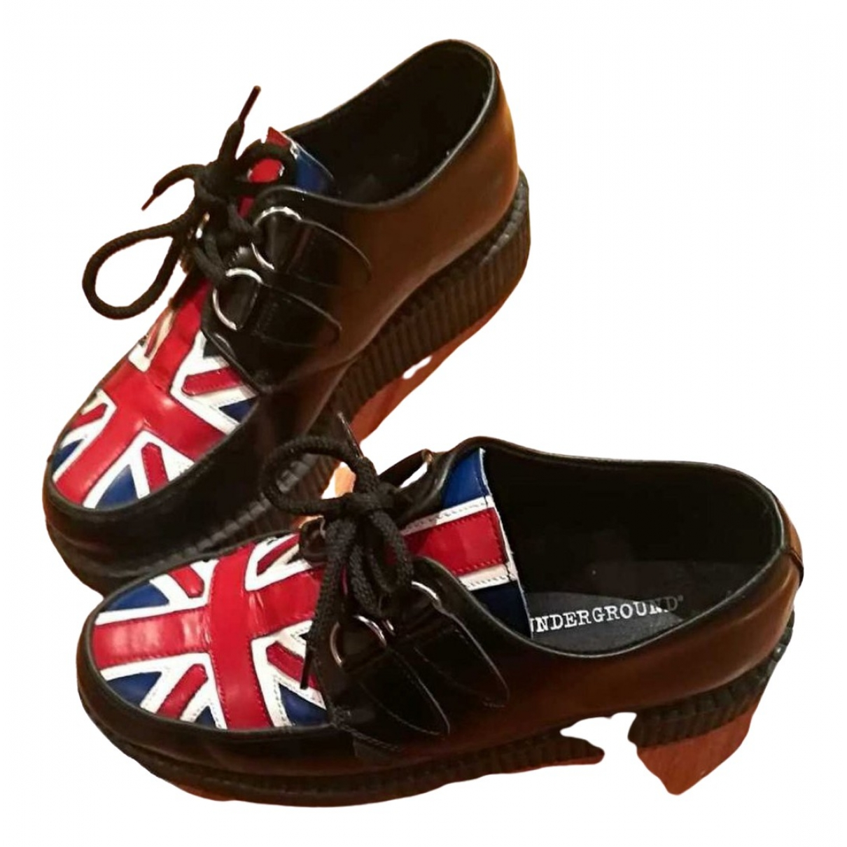 Underground \N Black Leather Lace ups for Women 40 EU