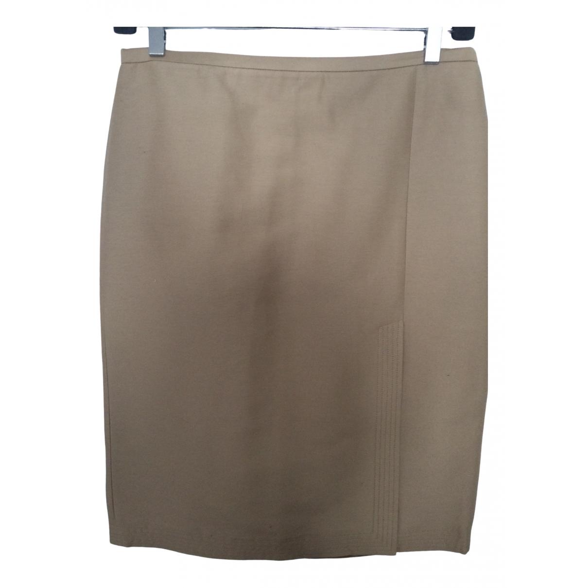 Bcbg Max Azria - Jupe   pour femme en coton - beige