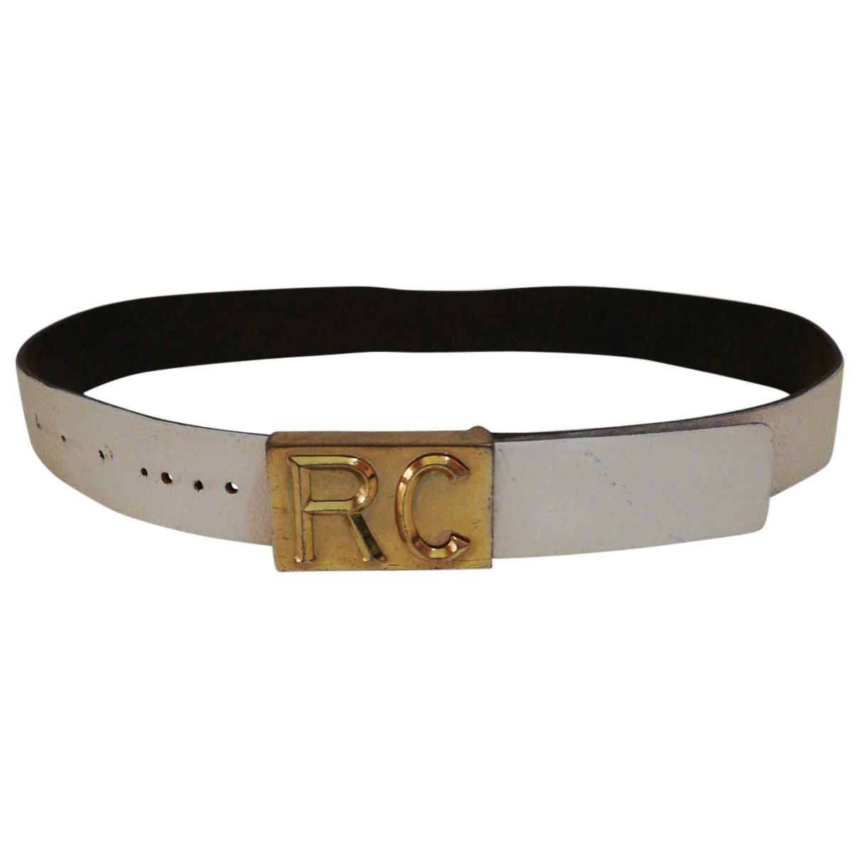 Roberto Cavalli \N White Leather belt for Men M international