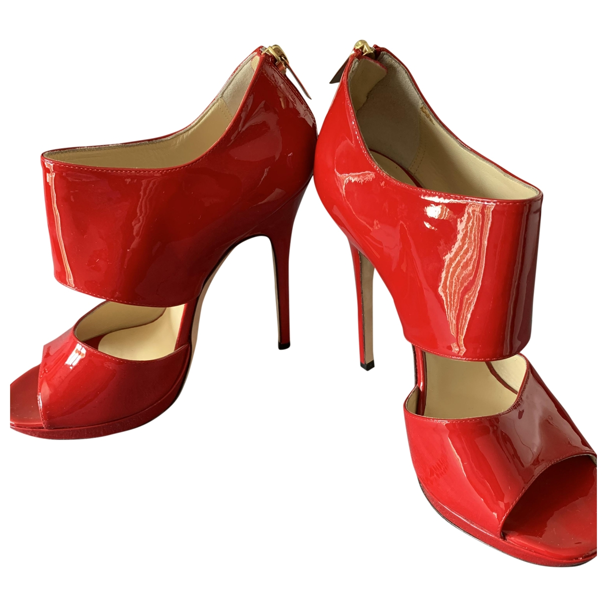 Jimmy Choo \N Red Patent leather Heels for Women 39.5 EU