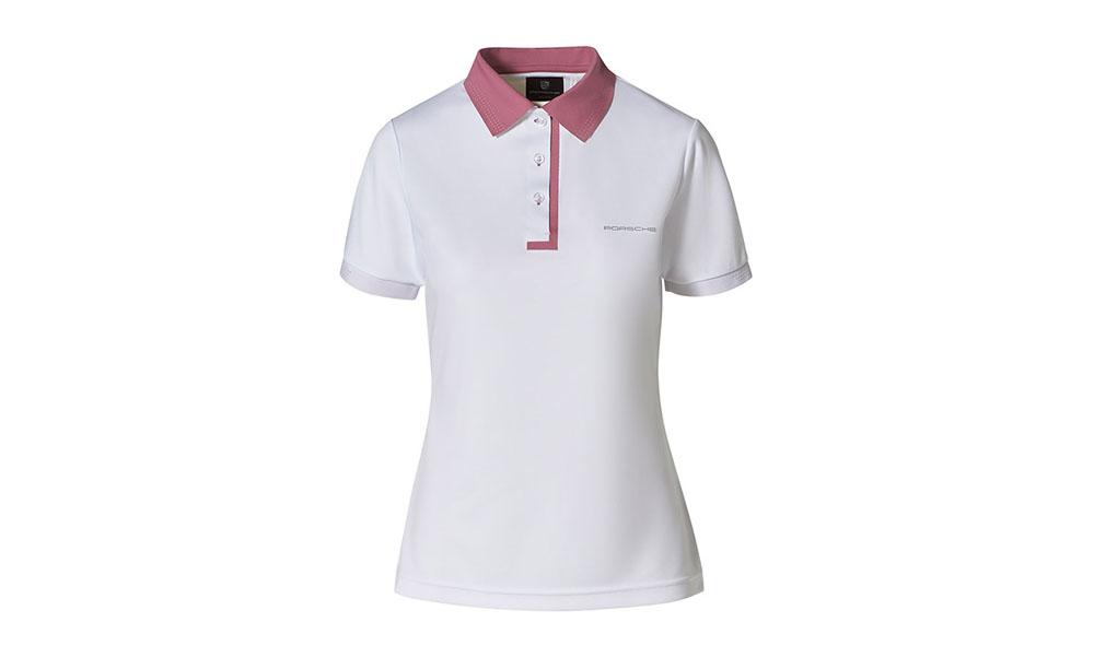 Porsche Driver Selection Taycan Collection, Women's White / Rose Polo Shirt X-Small