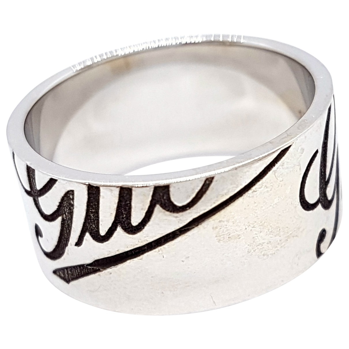 Gucci \N Ring in  Silber Weissgold