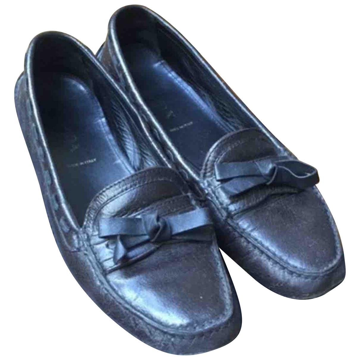 Prada \N Brown Leather Flats for Women 38.5 EU