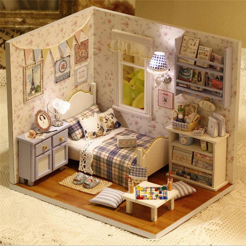 Cuteroom Peaceful DIY Wooden Doll House Room Handmade 3D Miniature Dollhouse
