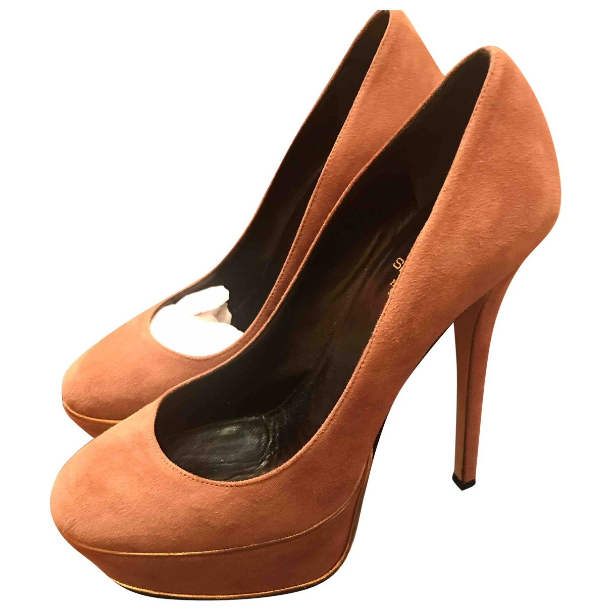 Non Signe / Unsigned \N Pumps in  Rosa Veloursleder
