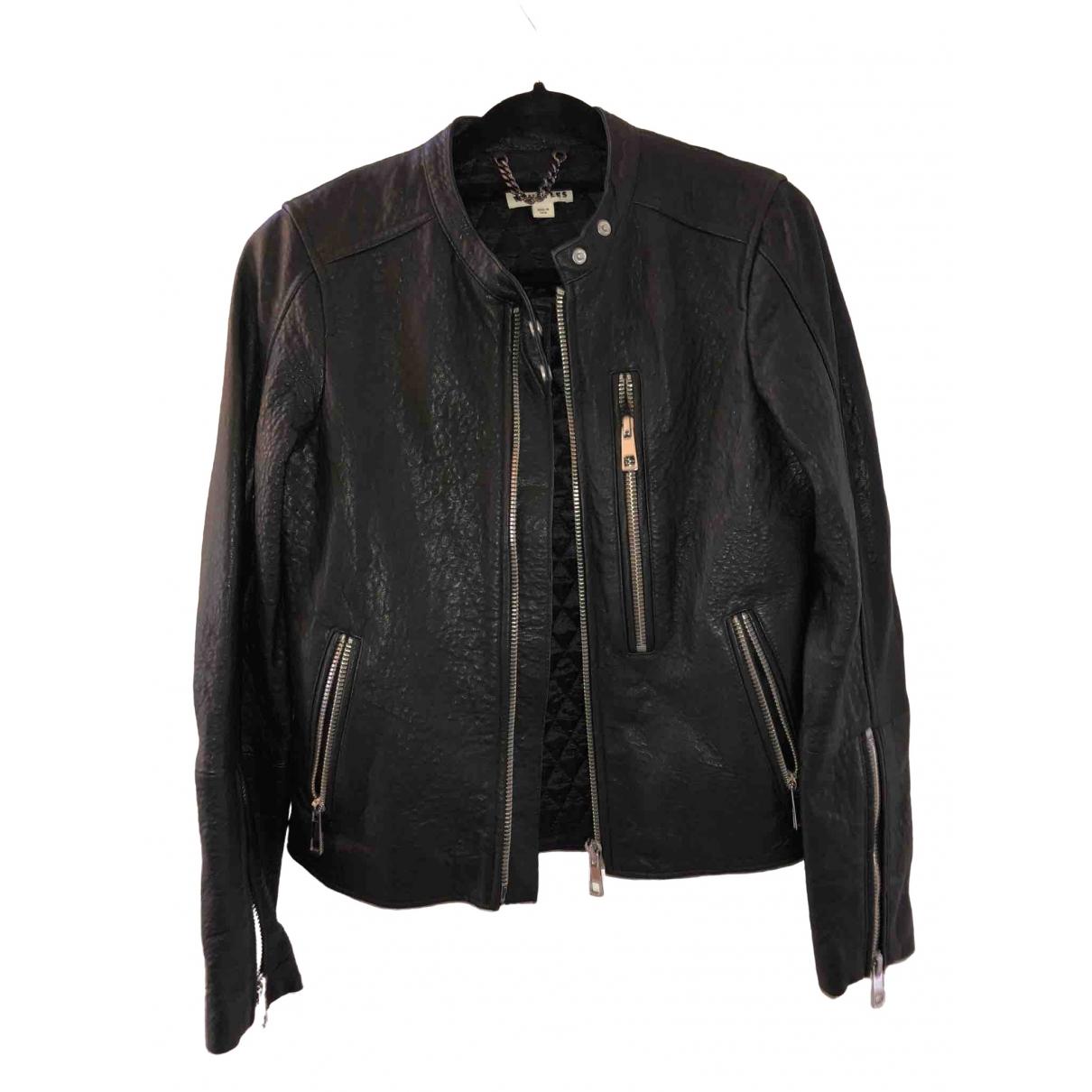 Whistles \N Black Leather jacket for Women 8 UK