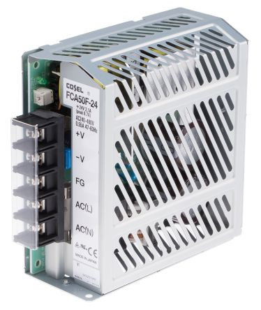 Cosel , 50W Embedded Switch Mode Power Supply SMPS, 24V dc, Enclosed