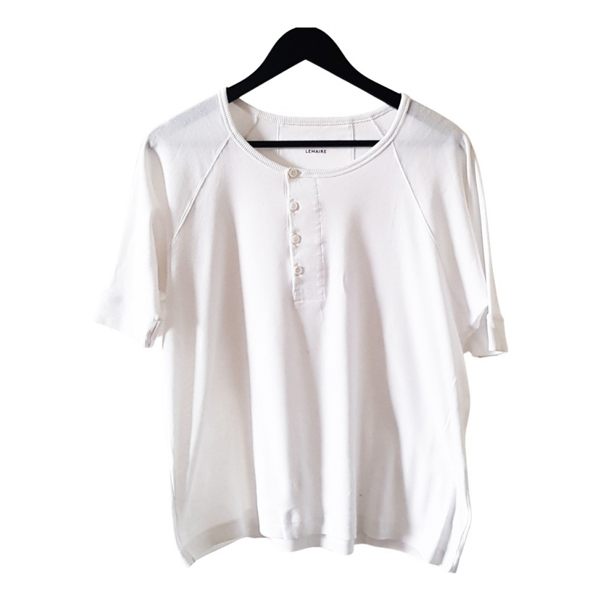 Lemaire N White Cotton T-shirts for Men M International