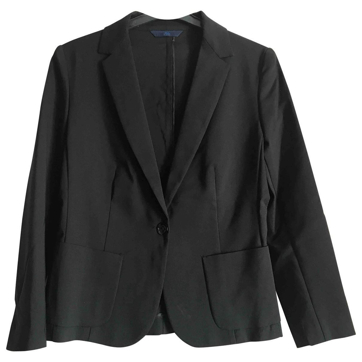Non Signé / Unsigned \N Black Cotton jacket for Women 42 IT
