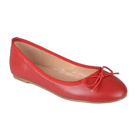 Journee Collection Womens Vika Ballet Flats, 7 1/2 Medium, Red