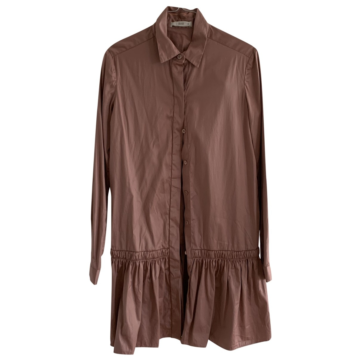 Prada \N Pink Cotton dress for Women 38 IT