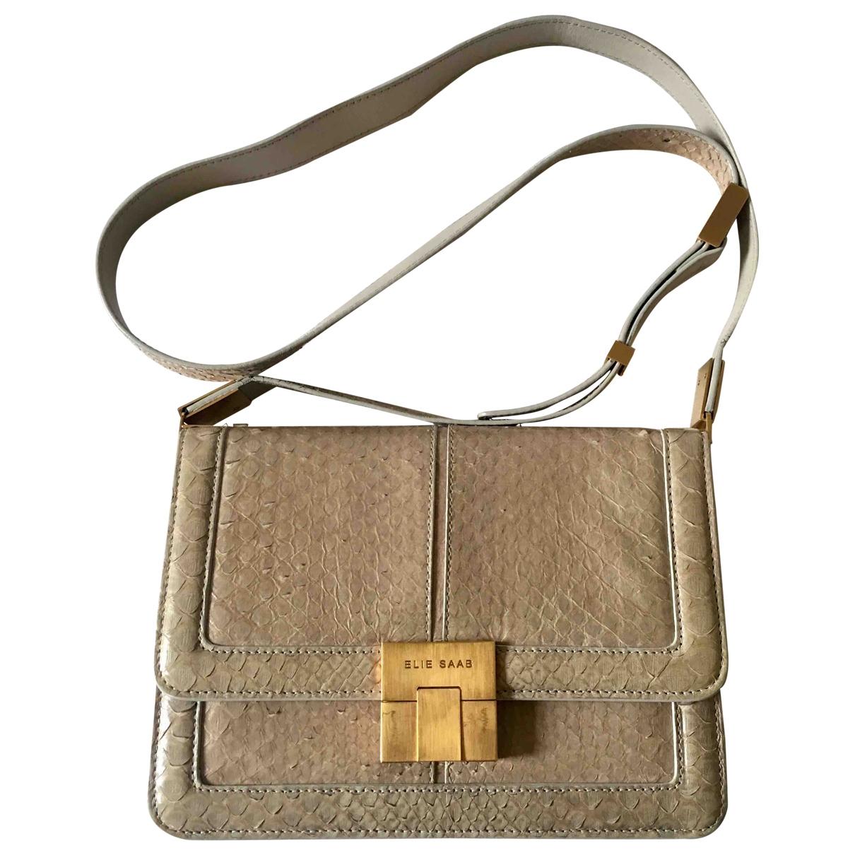 Elie Saab \N Handtasche in  Beige Echse