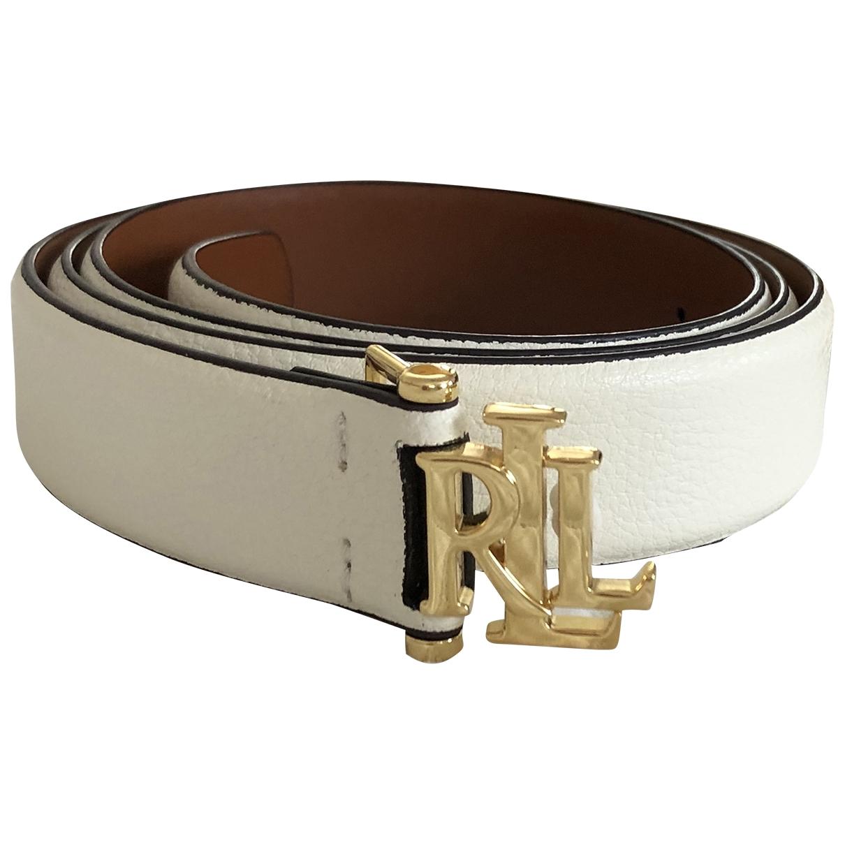 Lauren Ralph Lauren \N White Leather belt for Women L International