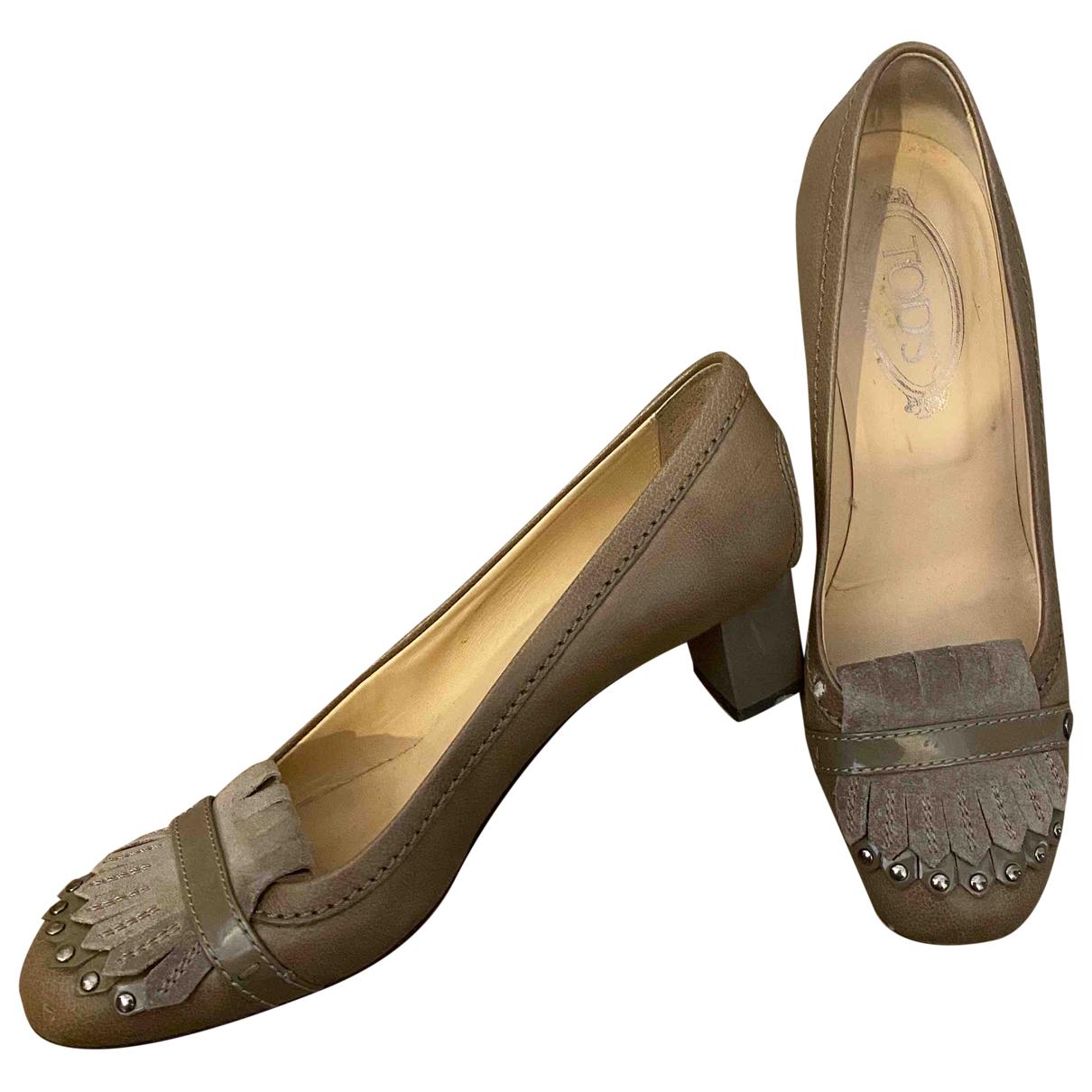 Tods - Escarpins   pour femme en cuir - gris