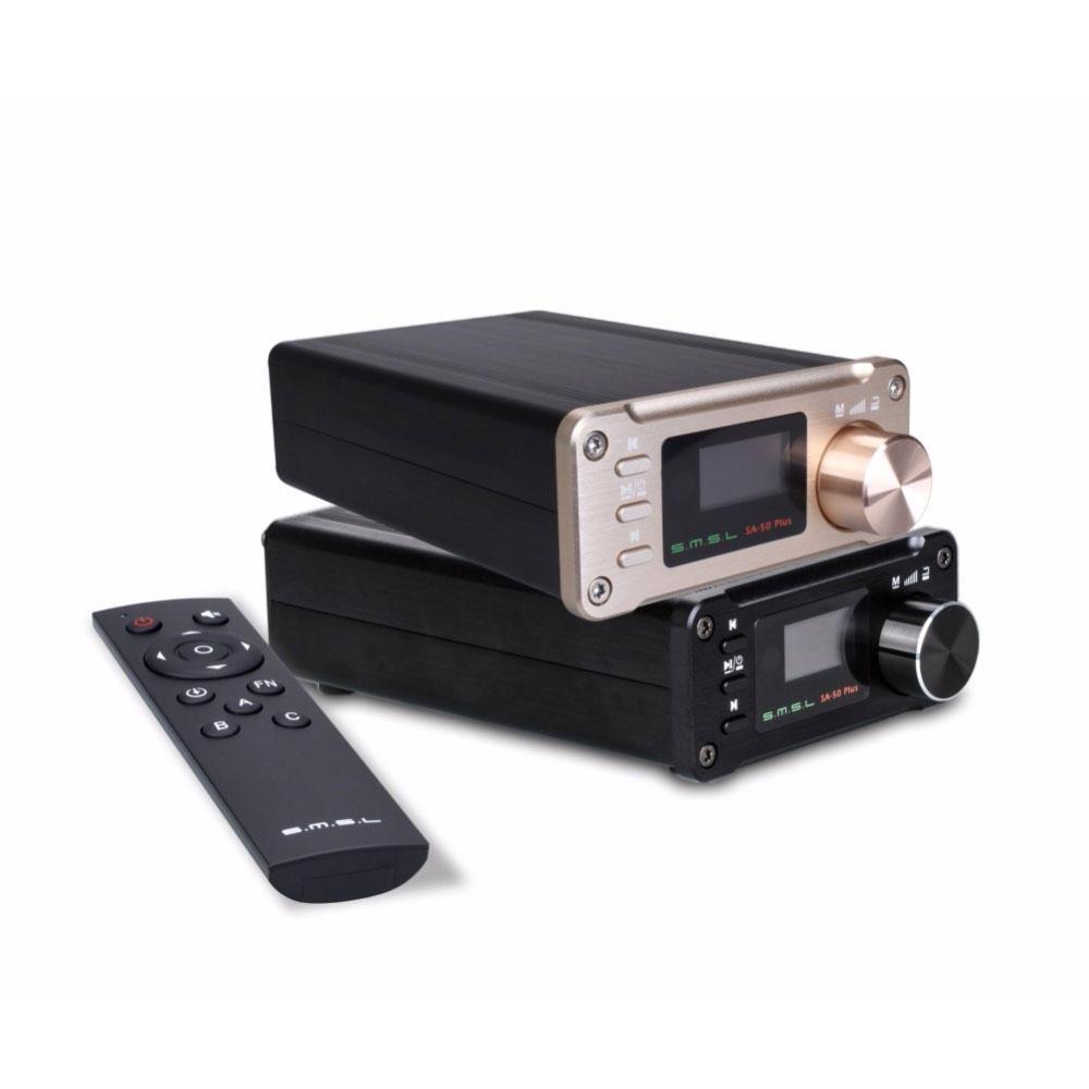 SMSL SA-50 PLUS 2x50W HiFi AUX Optical USB Disk Portable Power Digital Amplifier Support TF USB AUX Optical Input