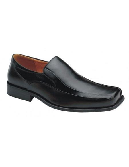 Zota Mens Italian Design Black Leather Shoe