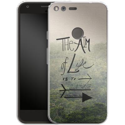 Google Pixel XL Silikon Handyhuelle - Aim of Life von Leah Flores