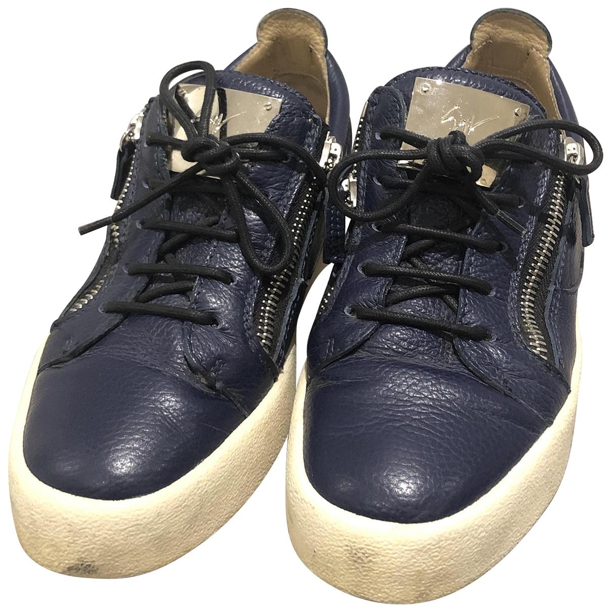 Giuseppe Zanotti Nicki Blue Leather Trainers for Women 40 EU