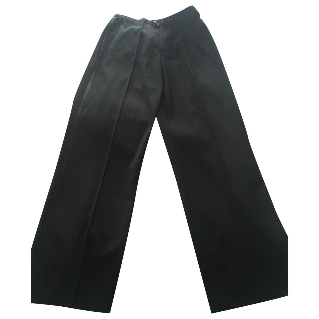 Gucci \N Black Wool Trousers for Women 44 FR