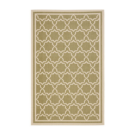 Safavieh Courtyard Collection Caymen Oriental Indoor/Outdoor Area Rug, One Size , Multiple Colors