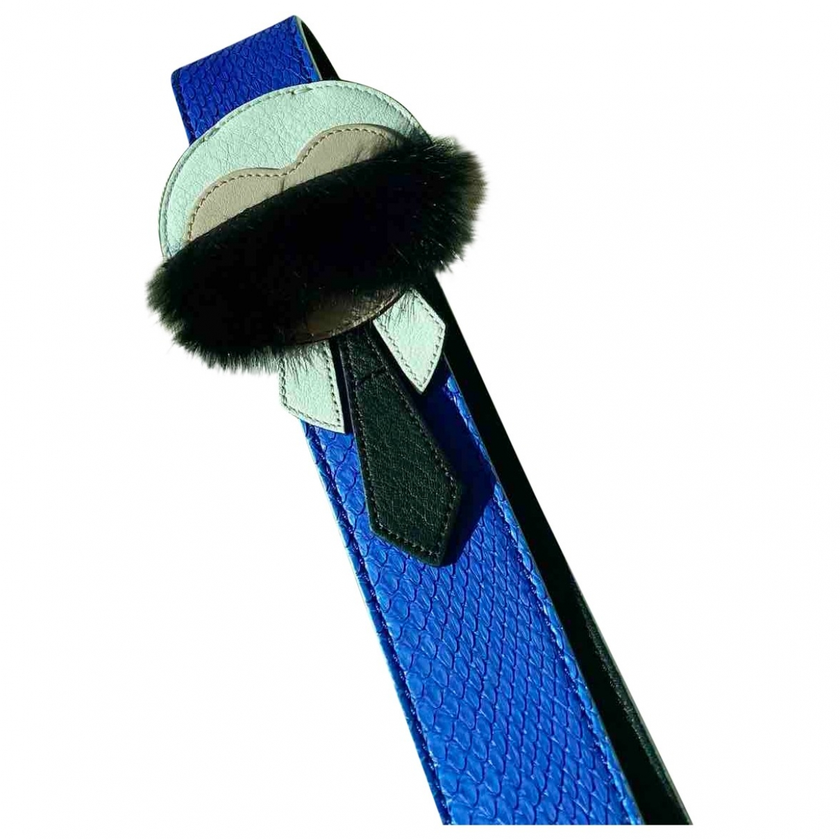 Fendi \N Blue Python belt for Women XS International
