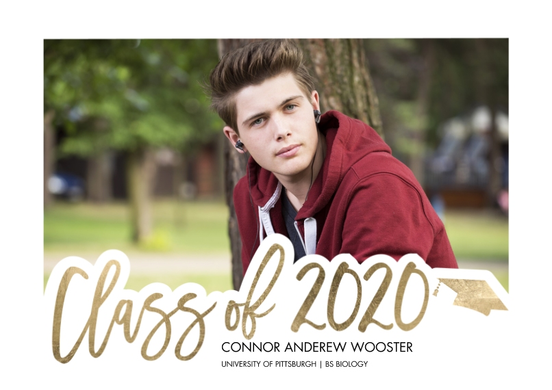 2020 Graduation Announcements Flat Glossy Photo Paper Cards with Envelopes, 5x7, Card & Stationery -2020 Scripted by Tumbalina