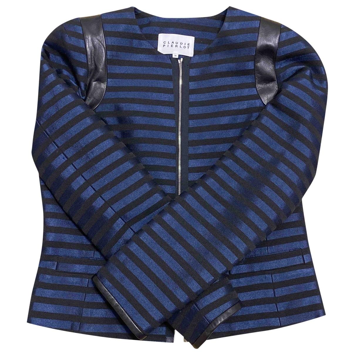 Claudie Pierlot \N Jacke in  Blau Polyester
