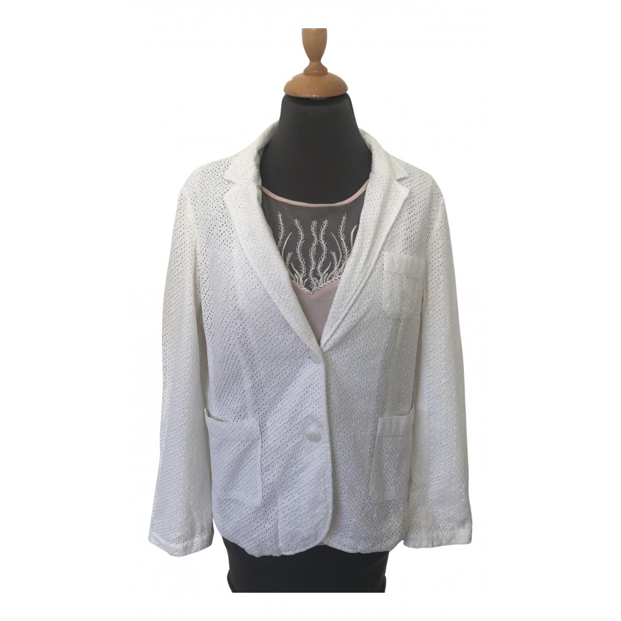 Gant - Veste   pour femme en coton - ecru