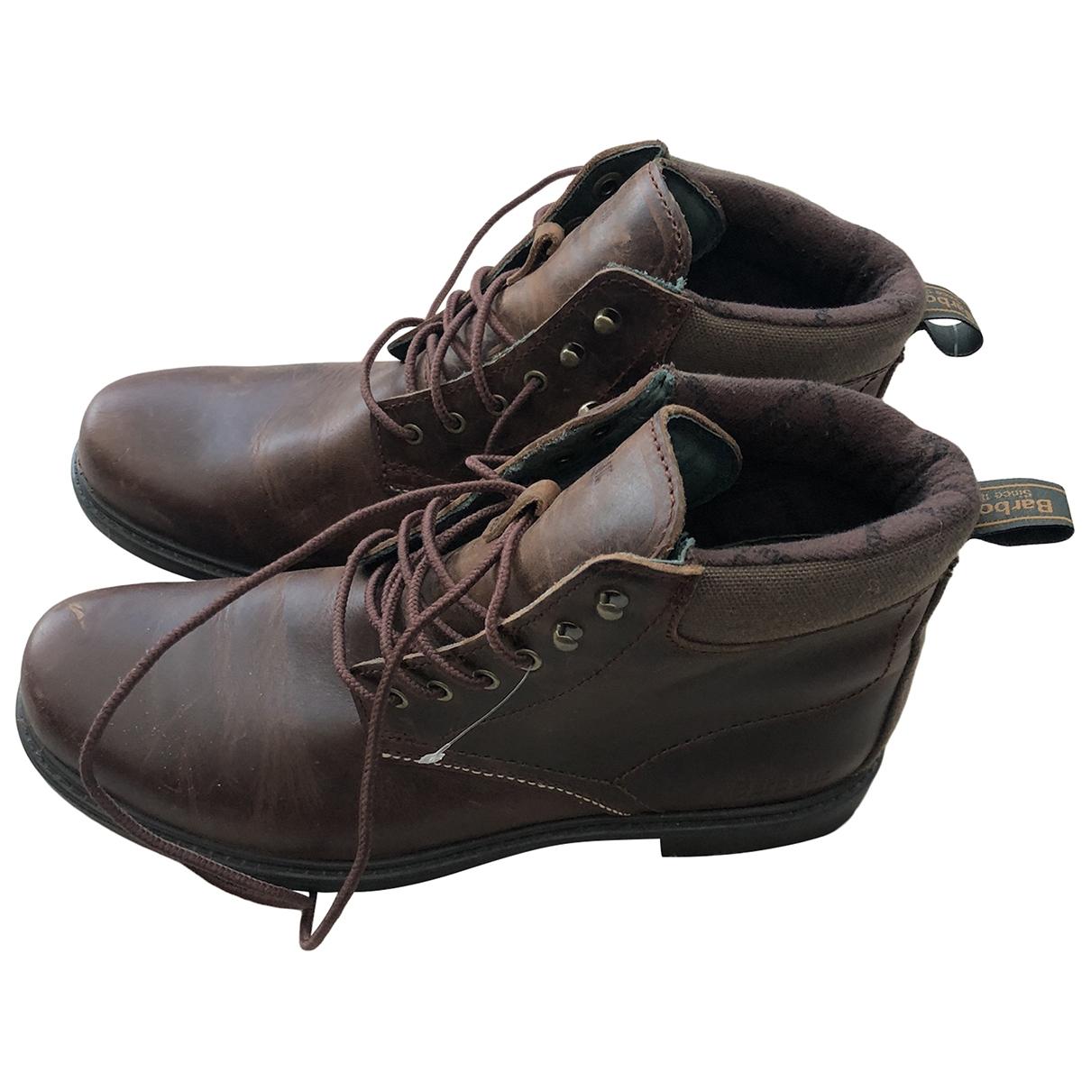 Barbour - Boots   pour femme en cuir - marron